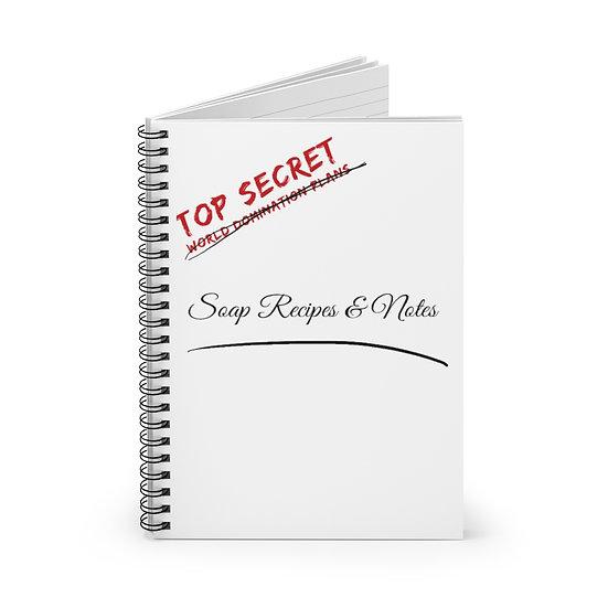Top Secret Soap Recipe  - Notebook