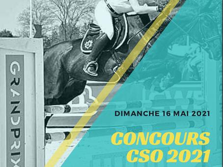 DIMANCHE 16 MAI 2021 / CONCOURS CSO