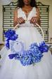 Beautiful Blue Bridal Bouquet