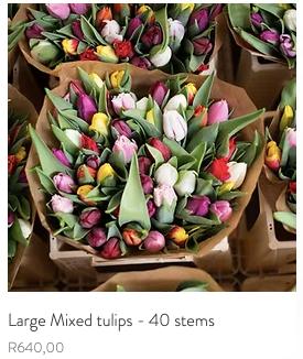 Large Tulip Mix - 40 Stems R650