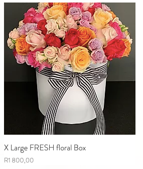 X Large designer FRESH floral box R1800