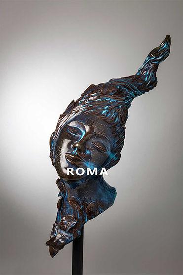 Scultura_arte_ceramica_blu_intenso_ROMAjpg