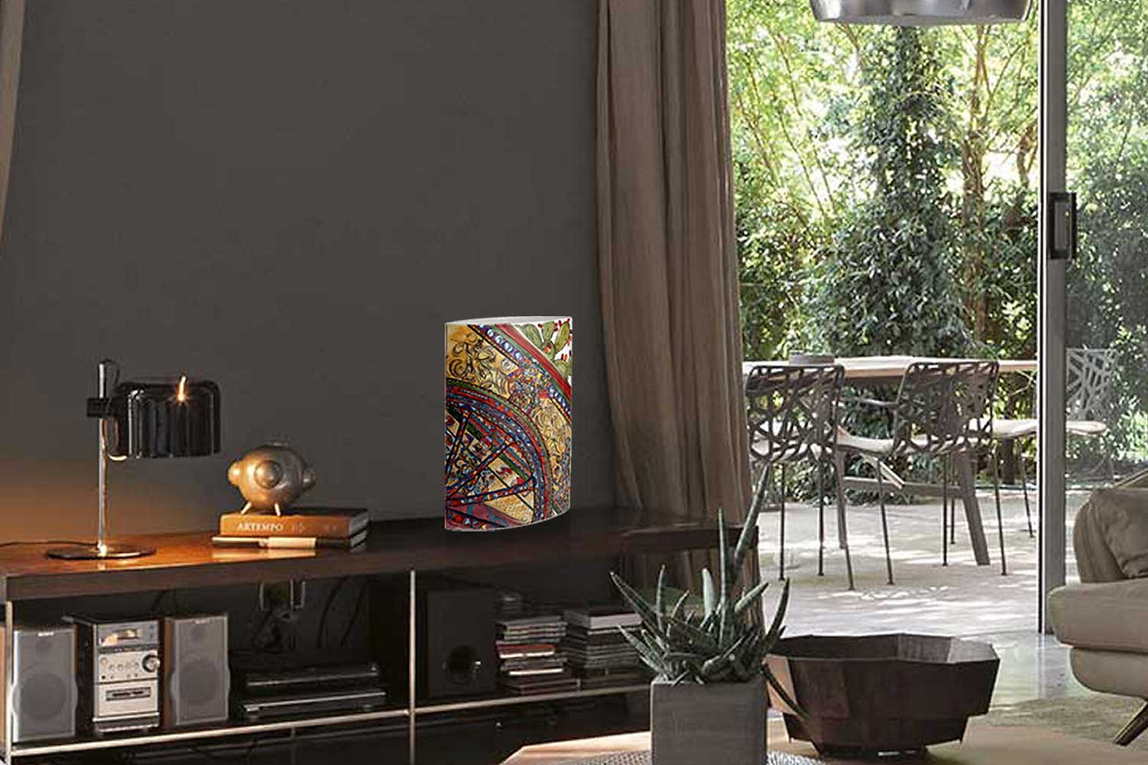 Vaso ceramica artistica alto 40 cm con decoro carretto siciliano dai colori vivaci e brillanti