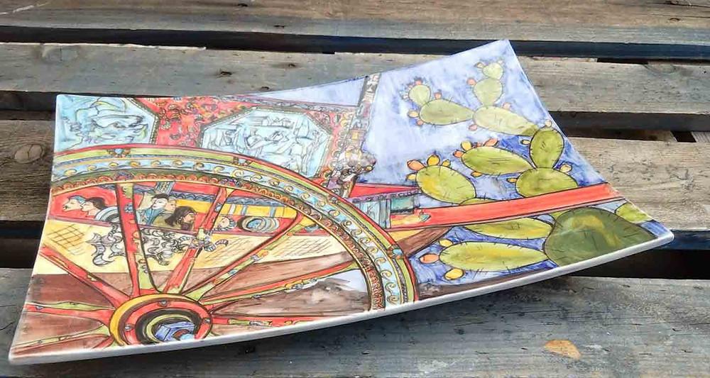 Piatto raffigurante il carretto siciliano