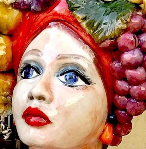 testa di ceramica tradizionale siciliana
