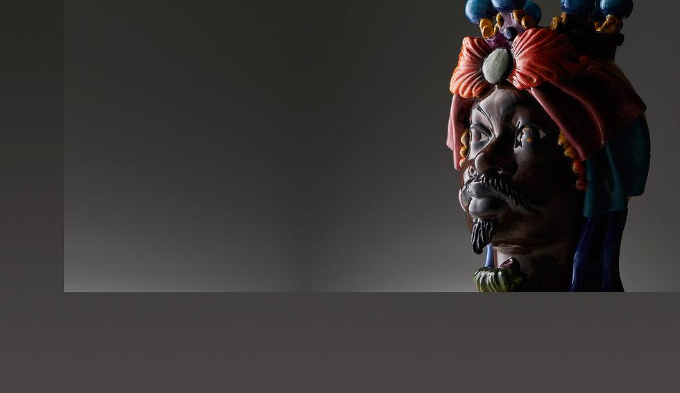 Testa di moro in ceramica di caltagirone