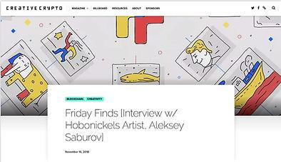 INTERVIEW W/ HOBONICKELS ARTIST, ALEKSEY SABUROV