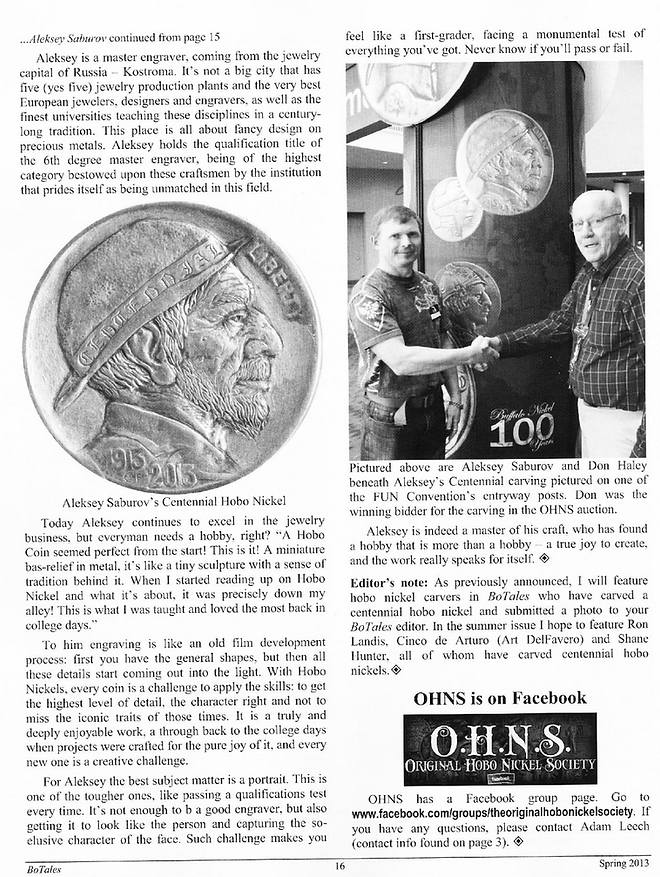 An official publication of the Original Hobo Nickel Society