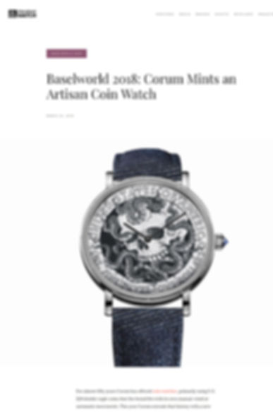 Baselworld 2018: Corum Mints an Artisan Coin Watch