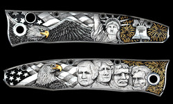 Patriotic knife