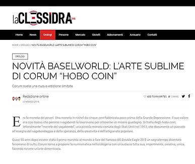 """NOVITÀ BASELWORLD: L'ARTE SUBLIME DI CORUM """"HOBO COIN"""""""