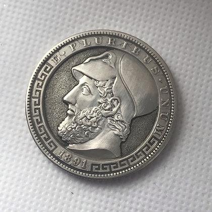 "Original hobo nickel ""The Pericles"""