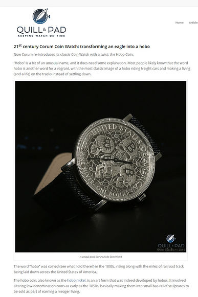 Corum Hobo Coin Watch: Gothic Rock And Roll