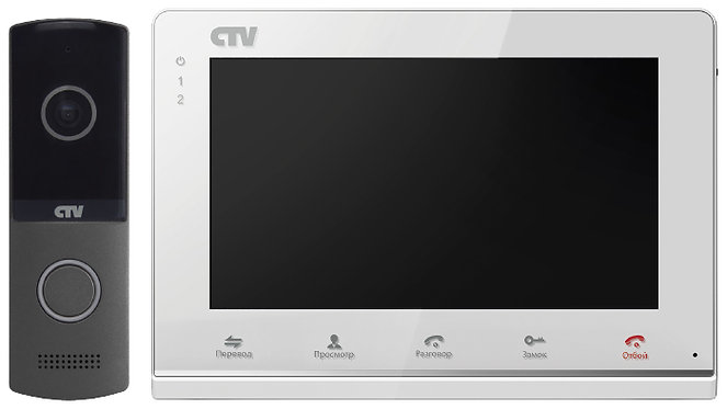 "Комплект CTV-DP2700IP NG, экран 7"", запись фото/видео, переадресация на смартфон"