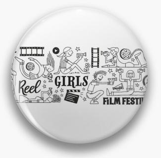 Reel Girls Collage Pin