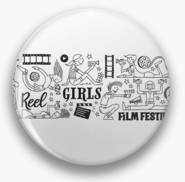 Reel Girls Collage Pin