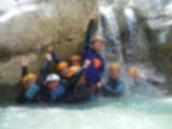 enterrement vie de jeune garçon en canyoning. canyon du Jabron, Verdon