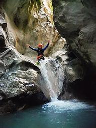 le canyon du Baou, Decouverte, sauts, descente en rappel, verdon, initiaion