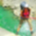canyoning verdon, La Ferné, descente en rappel, nage, sauts, sportif