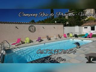 Bon plan à Riez, le camping Rose de Provence. Gorges du Verdon.