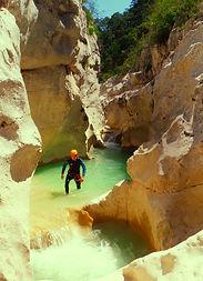 le canyon du Jabron, découverte, à Trigance, gorges du verdon