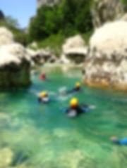 rando aqua verdon, couloir Samson, nage, sauts. niveau decouverte