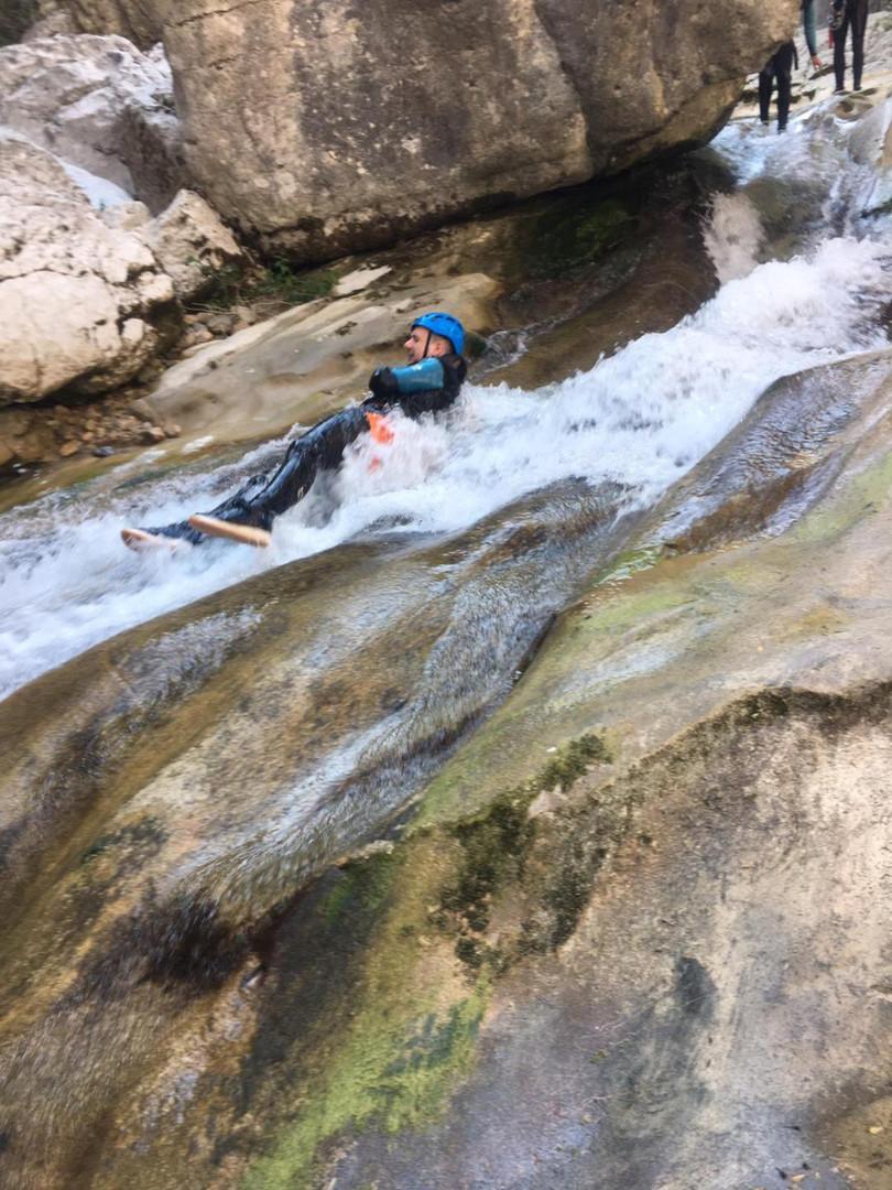 slide canyoning