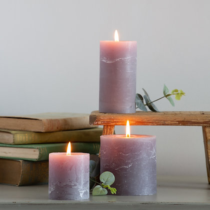 Rustic Grey Pillar Candles (3 Sizes)