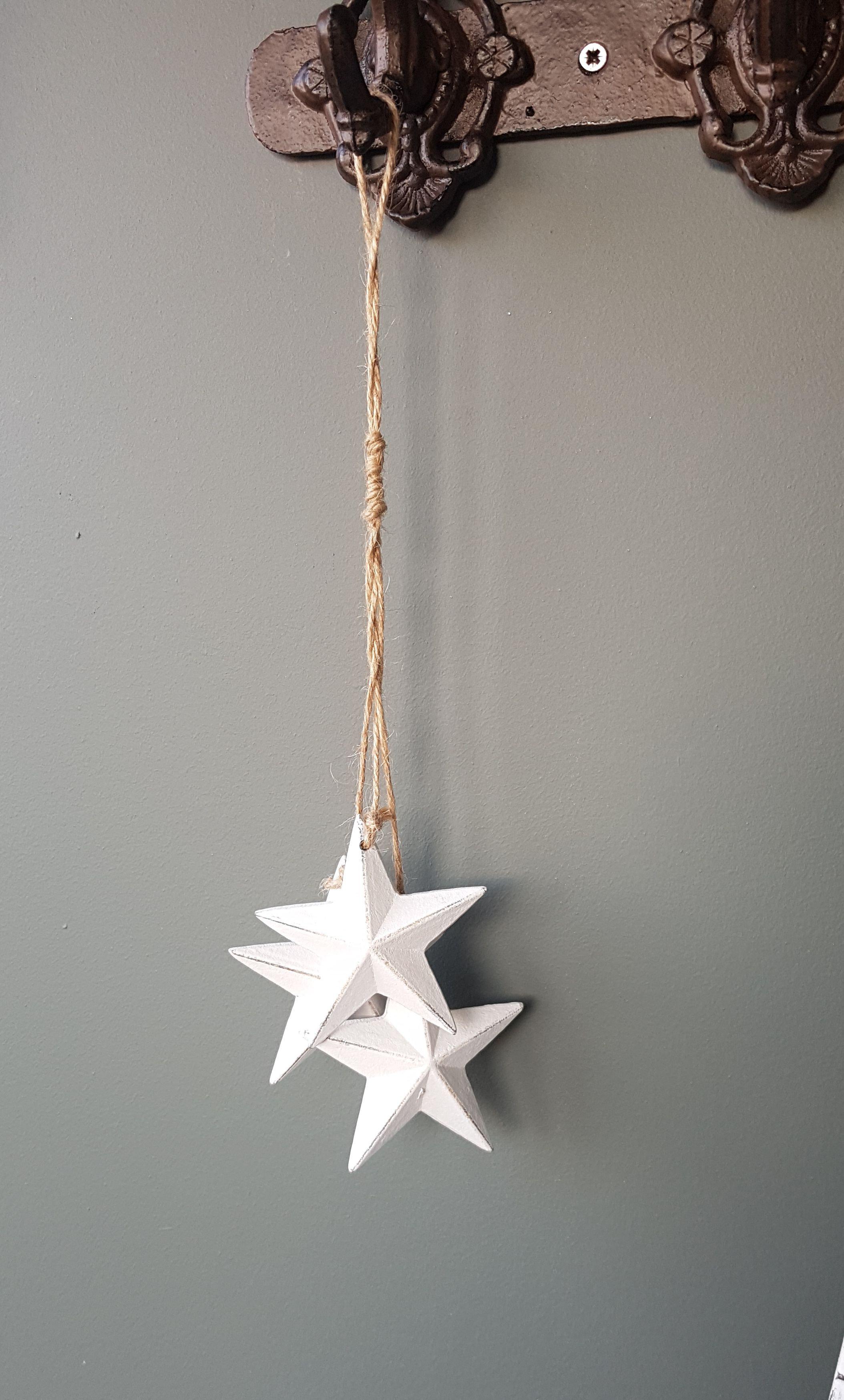 White Wooden Hanging Stars Roseandena