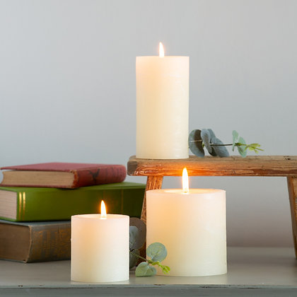 Rustic Ivory Pillar Candle