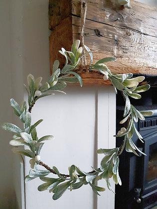 Mistletoe Glitter Wreath