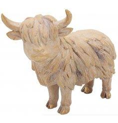 Ornamental Driftwood Highland Cow