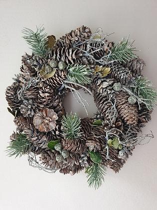 Pinecone Table Wreath