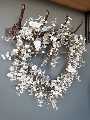 Frosted Heart Wreath