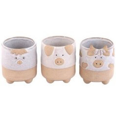 Country Styled Animal Planters (3 designs)