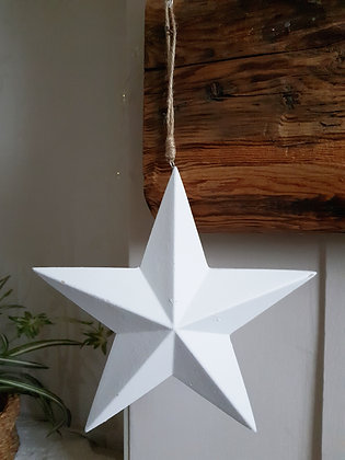 Hanging White Star