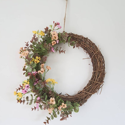 Wildflower & Eucalyptus Wreath