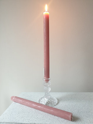 Rustic Pink Dinner Candles