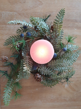 Winter Blueberry Candle Ring