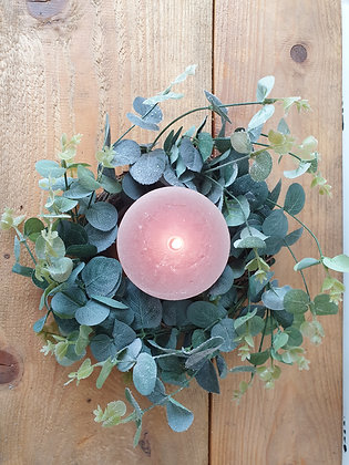 Frosted Eucalyptus Table Wreath