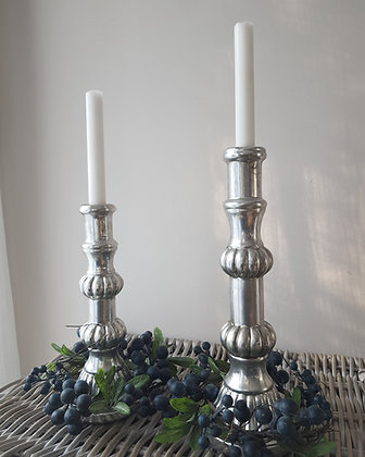 Aged Metalic Candle Stick