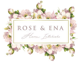 Home interiors, Home accessories, home decor, logo, rose an ena interiors