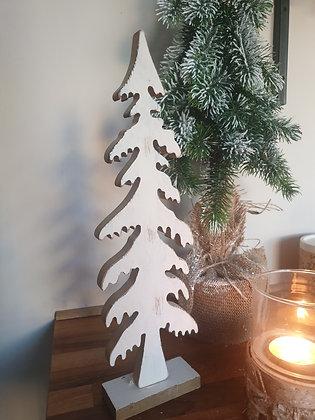 Rustic White Christmas Tree