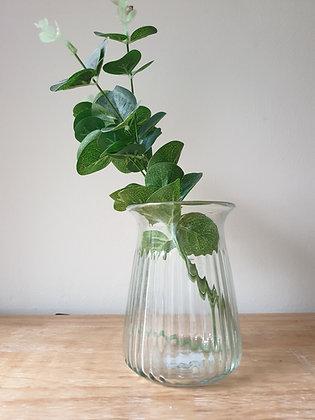 Ribbed Stem Vase