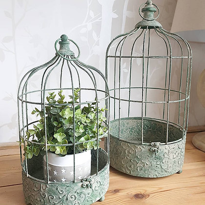 Antique Style Bird Cage (Set of Two)