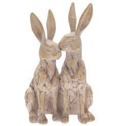 Ornamental Driftwood Twin Hares