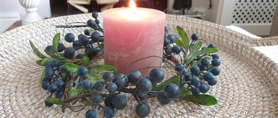 Wild Blueberry Table Wreath