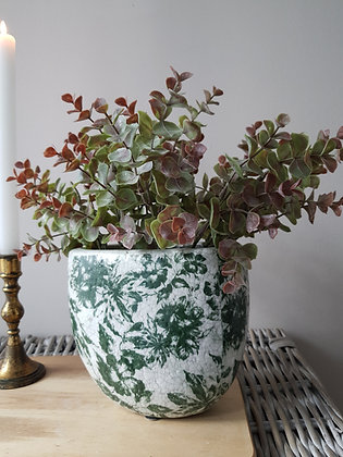 Vintage Flowers Oval Vase