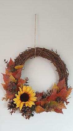 Sunflower & Pinecone Wreath