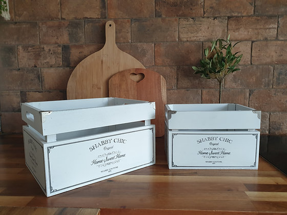 Shabby Chic Crates (Set of Two)